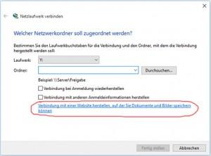 Verbindung zu FTP über Windows Explorer